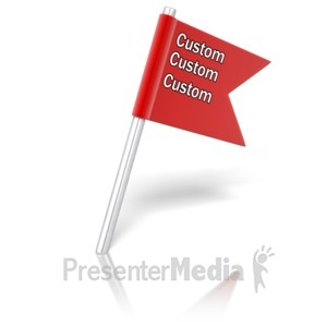 ID# 10944 - Flag Pin Angled Text - Presentation Clipart