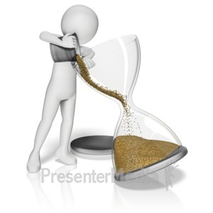 ID# 10945 - 3d Figure Filling Hourglass - Presentation Clipart