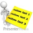 Figure Standing On Blank Note Text - Presentation Clipart