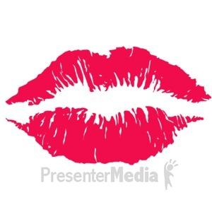 ID# 10951 - Lips Kiss Imprint - Presentation Clipart