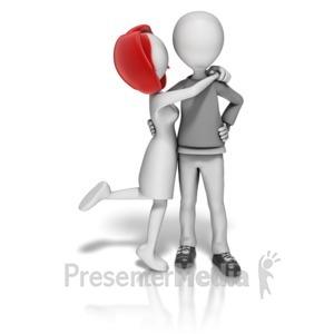 ID# 10952 - Couple In Love - Presentation Clipart