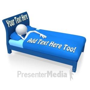 ID# 10955 - Stick Figure Sleeping - Presentation Clipart