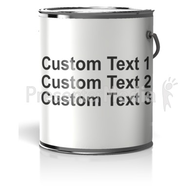 Paint Can Blank Label Text PowerPoint Clip Art