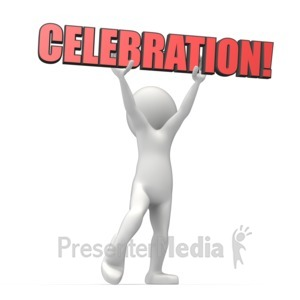 ID# 10972 - Celebration Text - Presentation Clipart