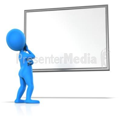 Pondering Blank Board PowerPoint Clip Art