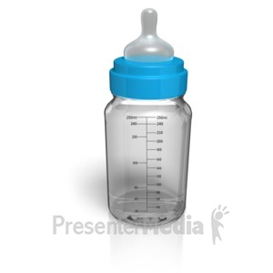 ID# 10994 - Baby Glass Bottle Empty - Presentation Clipart