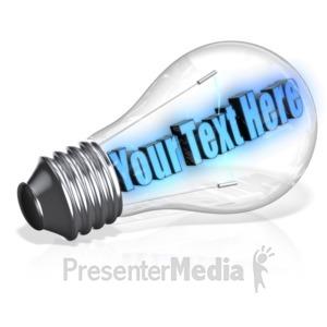 ID# 10995 - Light Bulb Text - Presentation Clipart