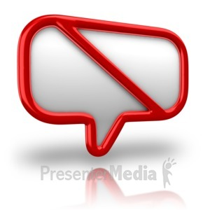 ID# 11005 - No Talking Sign - Presentation Clipart