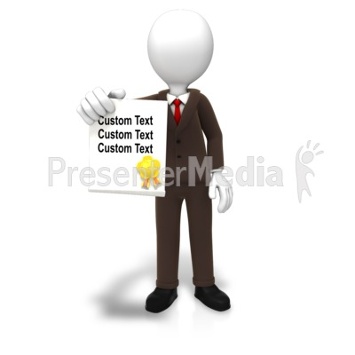 Man With Award Document Text PowerPoint Clip Art