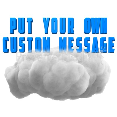 Fluffy Cloud Text PowerPoint Clip Art
