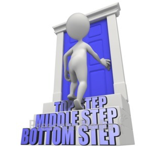 ID# 11033 - Stairs Of Opportunity - Presentation Clipart