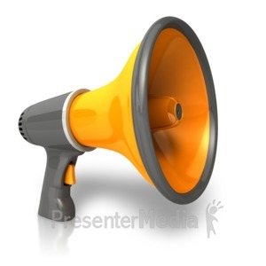 ID# 11041 - Single Bullhorn - Presentation Clipart