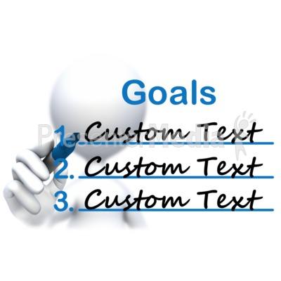 Stick Figure Drawing Goals Text Presentation Clipart
