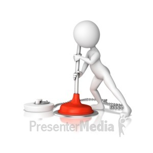 ID# 11051 - Plunging Drain - Presentation Clipart