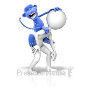 ID# 11056 - Monkey On Back - Presentation Clipart