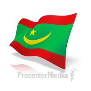 ID# 11060 - Mauritania Flag - Presentation Clipart