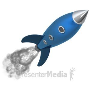 ID# 11077 - Retro Rocket - Presentation Clipart