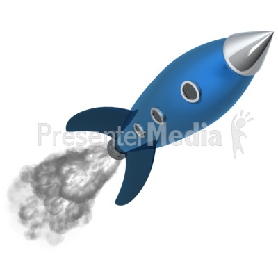 Retro Rocket PowerPoint Clip Art