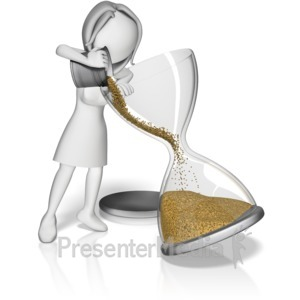 ID# 11093 - Female Filling Hourglass - Presentation Clipart