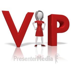 ID# 11100 - Businesswoman Vip - Presentation Clipart