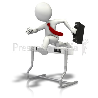 Hurdles To Business PowerPoint Clip Art