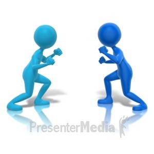 ID# 11107 - Fighters Ready Faceoff - Presentation Clipart
