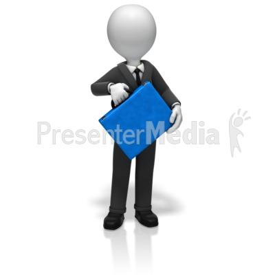 Businessman Briefcase PowerPoint Clip Art