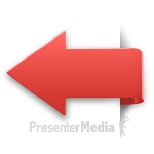 ID# 11119 - Arrow Swerve Corner - Presentation Clipart