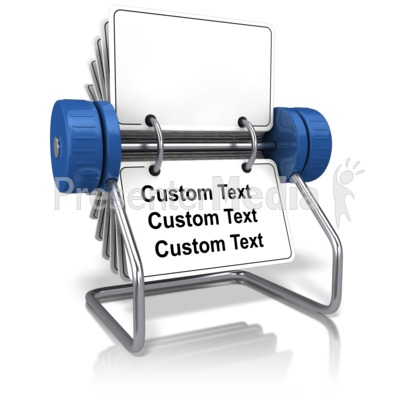Front Facing Office Card Holder Text PowerPoint Clip Art