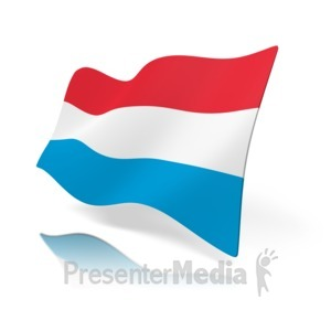 ID# 11128 - Luxembourg Flag - Presentation Clipart