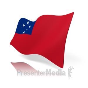 ID# 11130 - Samoa Flag - Presentation Clipart