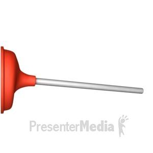 ID# 11140 - Stuck Plunger - Presentation Clipart