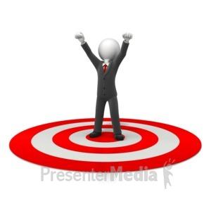 ID# 11143 - Business Celebration On Target - Presentation Clipart