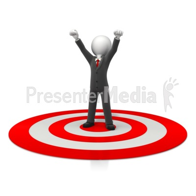 Business Celebration On Target PowerPoint Clip Art