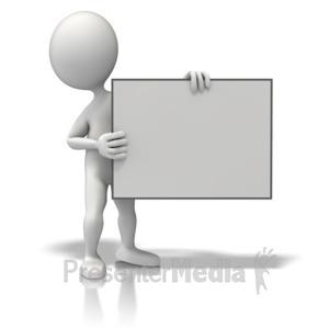 ID# 11158 - Figure Sign Right - Presentation Clipart
