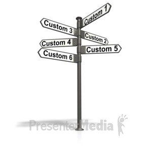 ID# 11162 - Street Sign Post Text - Presentation Clipart