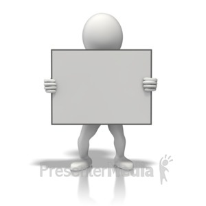 ID# 11164 - Figure Sign Center - Presentation Clipart
