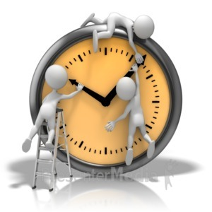 ID# 11186 - Changing The Clock - Presentation Clipart