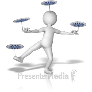 ID# 11196 - Balancing Many Spinning objects - Presentation Clipart