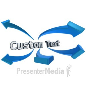 ID# 11201 - Word Arrows Custom Text - Presentation Clipart