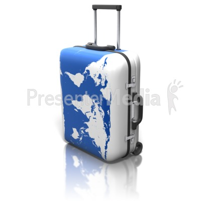 World map on suitcase presentation clipart great clipart for world map on suitcase powerpoint clip art gumiabroncs Image collections