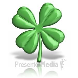 ID# 11237 - Four Leaf Clover - Presentation Clipart