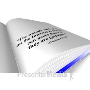 ID# 11243 - Book Quote - Presentation Clipart