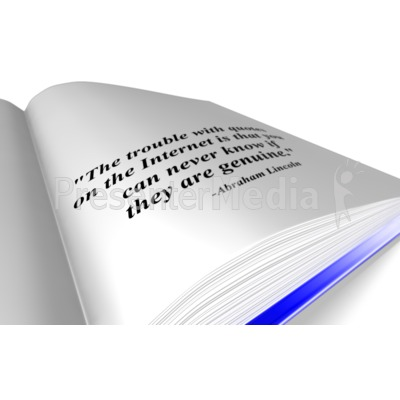 Book Quote PowerPoint Clip Art