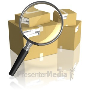 ID# 11259 - Searching Shipping Boxes - Presentation Clipart