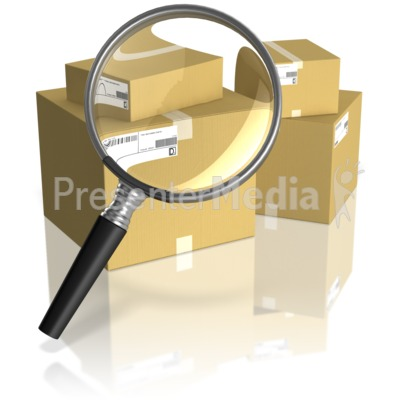 Searching Shipping Boxes PowerPoint Clip Art