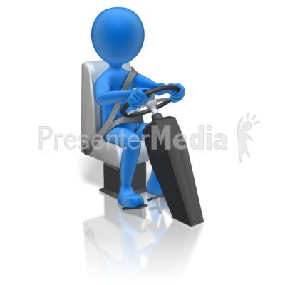 Stick Figure Driving PowerPoint Clip Art