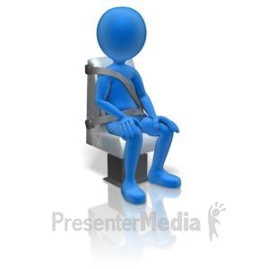 ID# 11271 - Stick Figure Passenger Seat - Presentation Clipart