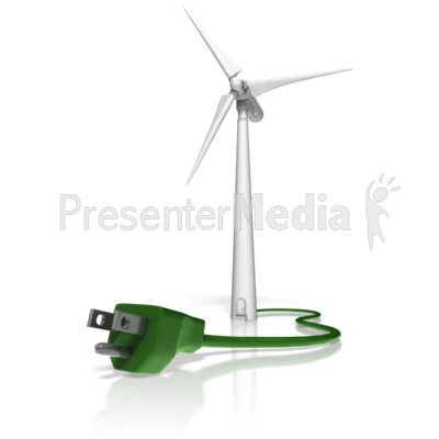 group of wind turbines spinning