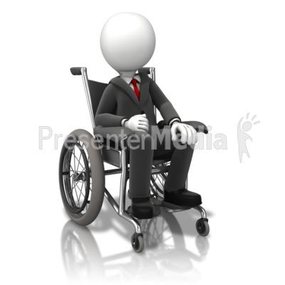 Business Figure Wheelchair PowerPoint Clip Art